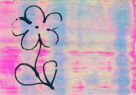 Flower postcard front