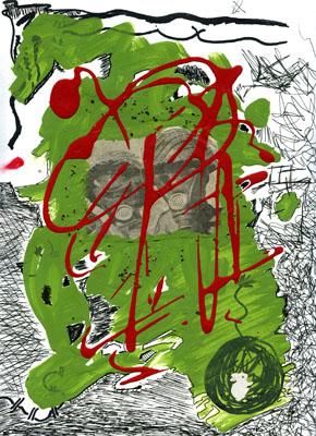 Mixed media paint
