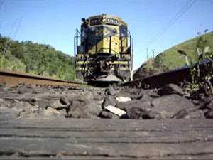 Freight train in Morsing movie